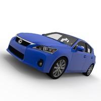 3d lexus ct 200h model