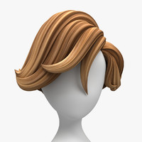 cartoon hair surfer style 3d obj