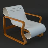 3d alvar aalto chair