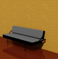 wall mounted sofa bed 3d dwg