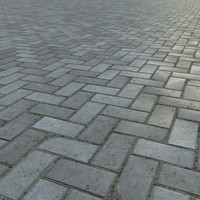 paving bricks 3d model