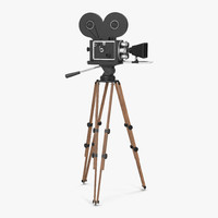 3d model of vintage video camera tripod