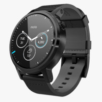 Moto 360 2nd Gen Black Leather Band