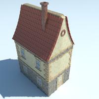 3d dutch netherlandish house model
