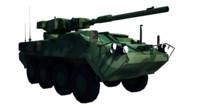 3d stryker m1128 stryker-mgs tank