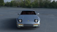 3d model porsche 944 turbo s interior