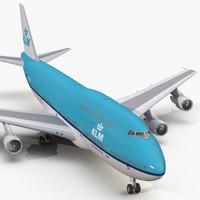boeing 747-300 klm 3d 3ds