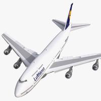 boeing 747 300 lufthansa 3d max