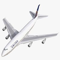 boeing 747 300 united 3d model