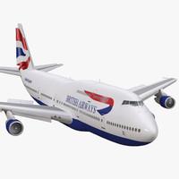 boeing 747-300 british airways 3d model