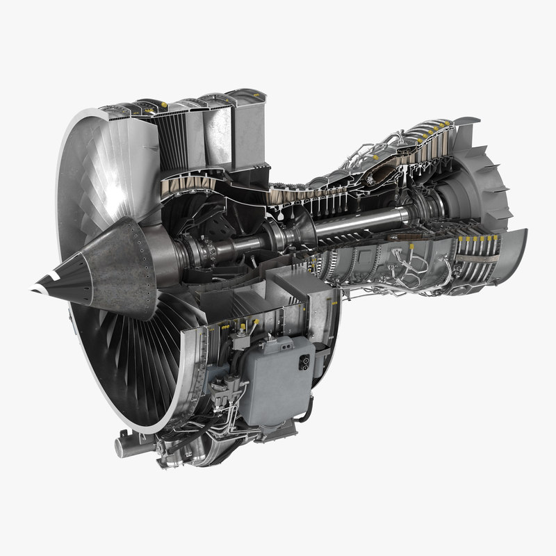 Turbofan Aircraft Engine CFM International CFM56 Sectioned 3d model 01.jpg