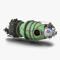 3d model turboprop aircraft engine pratt