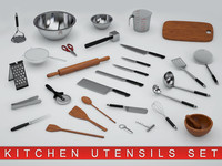 obj kitchen utensils