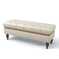 3d model monserrat bedroom pouf