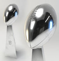 3d 3ds football trophy