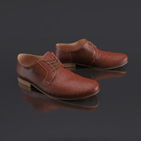 3d mens leather shoes s model
