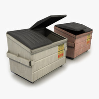 3d model dumpster modeled contains
