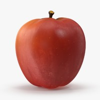 3d fuji apple