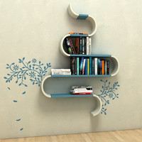 3d model set books shelf
