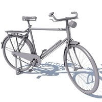 3d classic old bicycle