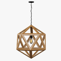 Restoration Hardware / Wood Polyhedron Pendant Smal