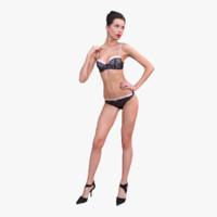 woman underwear 3d model