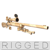 3d rigged m24