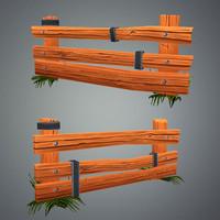 fence farm 3d model