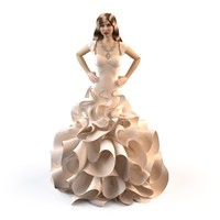 evening wedding dress 3d max
