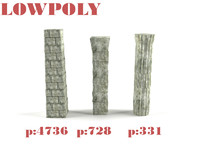 3d destroyed column model