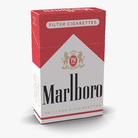 closed cigarettes pack marlboro 3d max