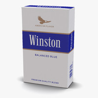 3d model of closed cigarettes winston