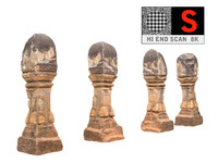 ancient column cambodia 3d model
