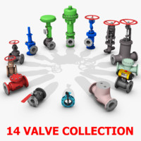 3d model valve flanged pipe