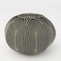 3d pouf jaipur rugs