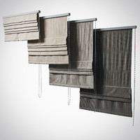 Set Roman blinds (4 stages, 3 colors)