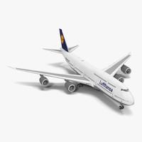 boeing 747 8i lufthansa 3d model
