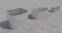 bins buckets 3d max