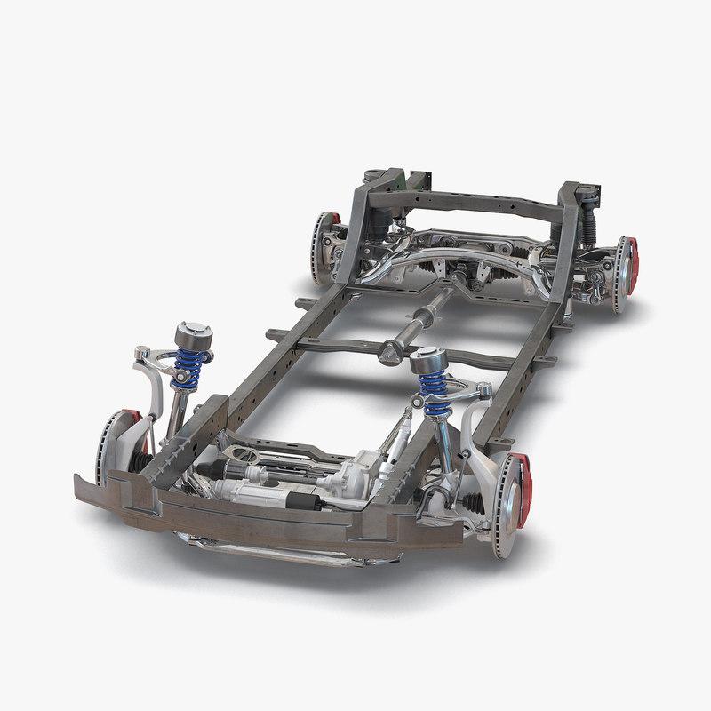 SUV Chassis Frame 3d model 01.jpg