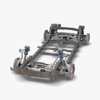 3d 3ds suv chassis frame 2