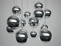 3d model mirror ball pendant light