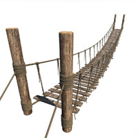 rope bridge 3d model