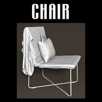 3d obj chair vest pillow