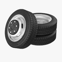 3d model truck wheels