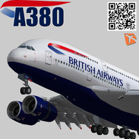 airbus british airways 3d model
