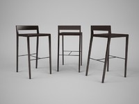 porada chair barstool 3ds