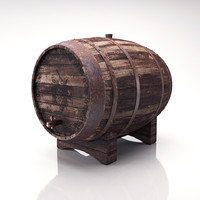 old wine barrel 3d model