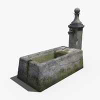 3d stone fountain