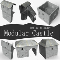 pack modular castle 3d 3ds
