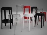 kartell charles ghost chair 3d model